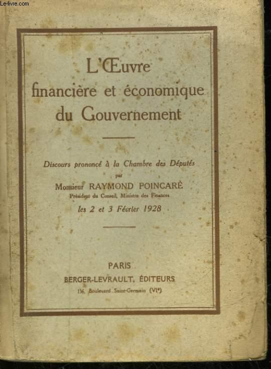 L'EOUVRE FINANCIERE ET ECONOMIQUE DU GOUVERNEMENT