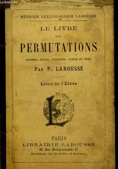 LE LIVRE DES PERMUTATIONS - LIVRE DE L'ELEVE