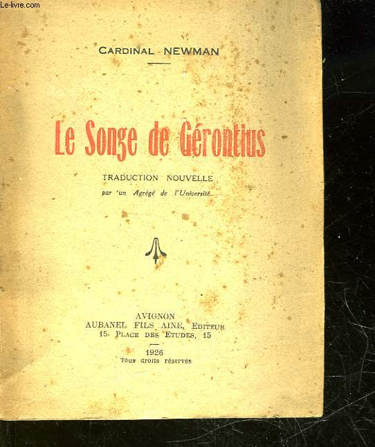 LE SONGE DE GERONTIUS