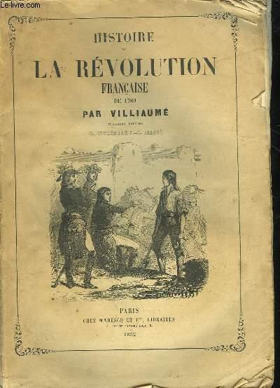 HISTOIRE DE LA REVOLUTION FRANCAISE DE 1789-1796