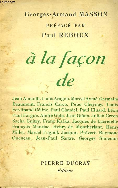 A LA FACON DE...