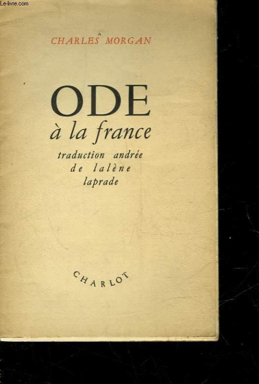 ODES A LA FRANCE