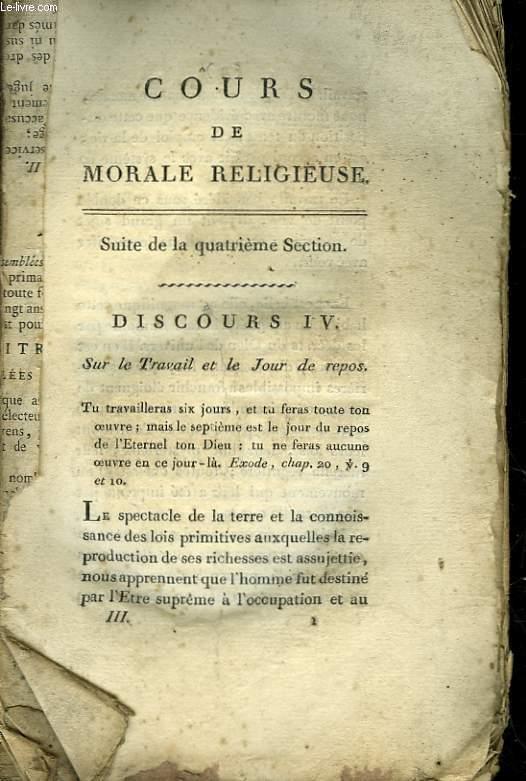 COURS DE MORALE RELIGIEUSE - Suite de la 4° section
