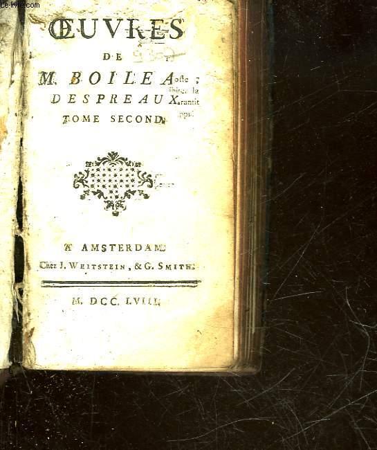 OEUVRES DE M. BOILEAU DESPREUX - TOME 2