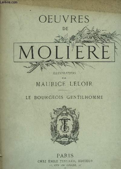 OEUVRES DE MOLIERE -  LE BOURGEOIS GENTILHOMME