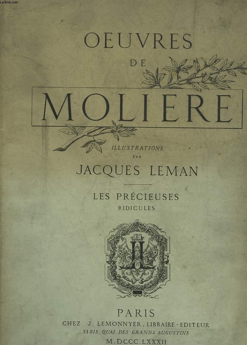 OEUVRES DE MOLIERE - LES PRECIEUSES RIDICULES