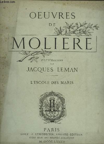 OEUVRES DE MOLIERE - L'ESCOLE DES MARIS