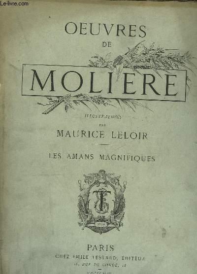 OEUVRES DE MOLIERE - LES AMANS MAGNIFIQUES
