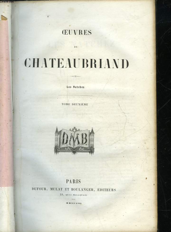 OEUVRES DE CHATEAUBRIAND - TOME 2