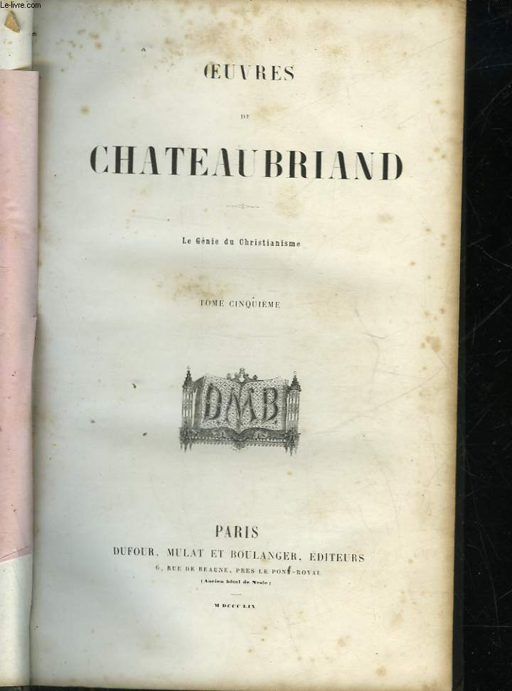 OEUVRES DE CHATEAUBRIAND - TOME 5