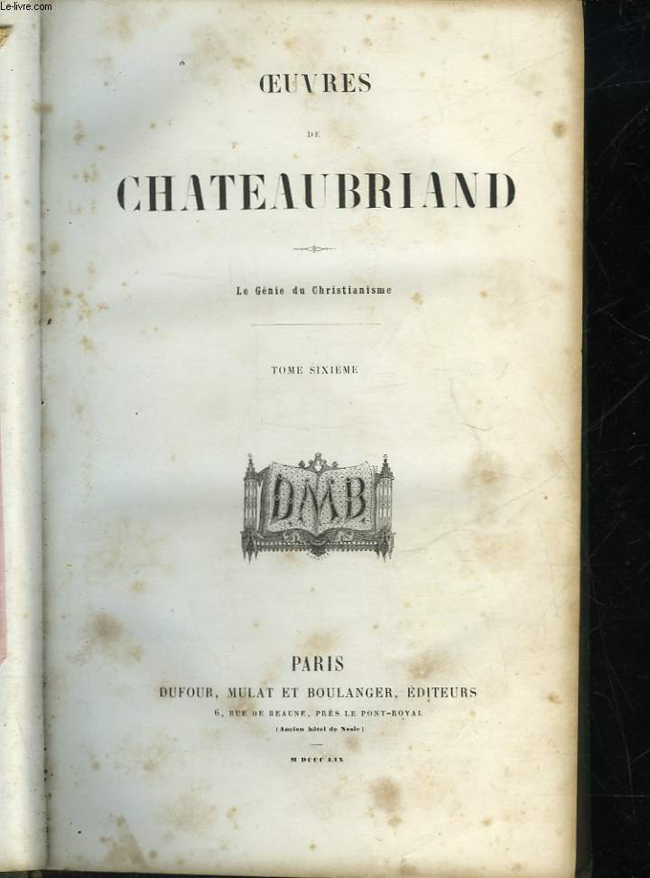 OEUVRES DE CHATEAUBRIAND - TOME 6