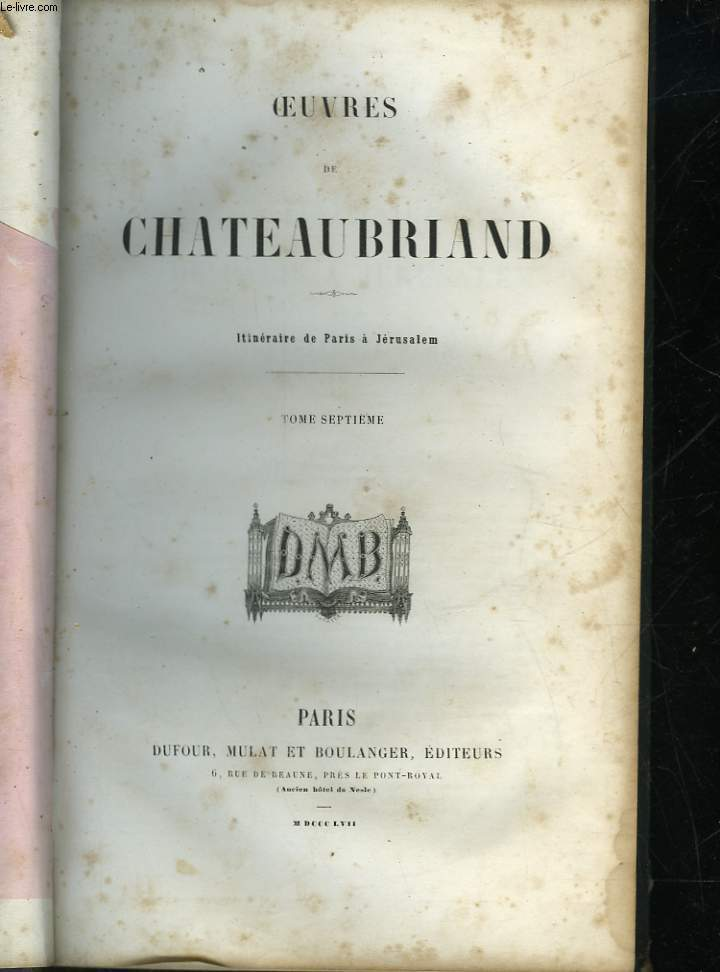 OEUVRES DE CHATEAUBRIAND - TOME 7