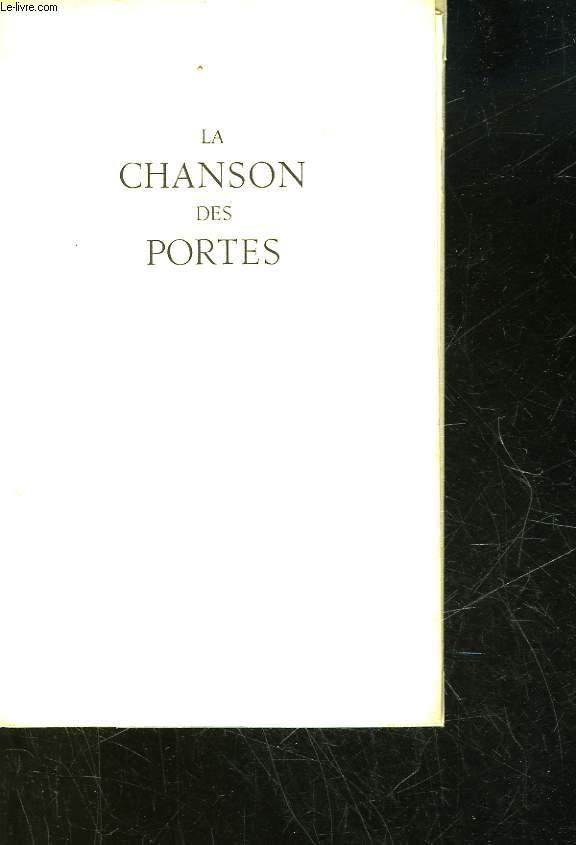 LA CHANSON DES PORTES