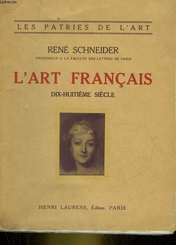L'ART FRANCAIS XVIIIe SIECLE (1690-1789)