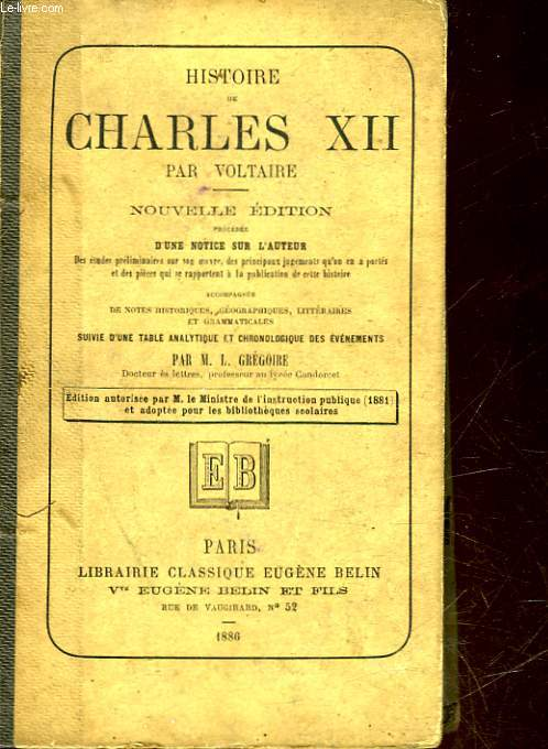 HISTOIRE DE CHARLES 12 - ROI DE SUEDE