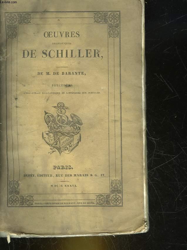 OEUVRES DRAMATIQUES DE SCHILLER - TOME 5
