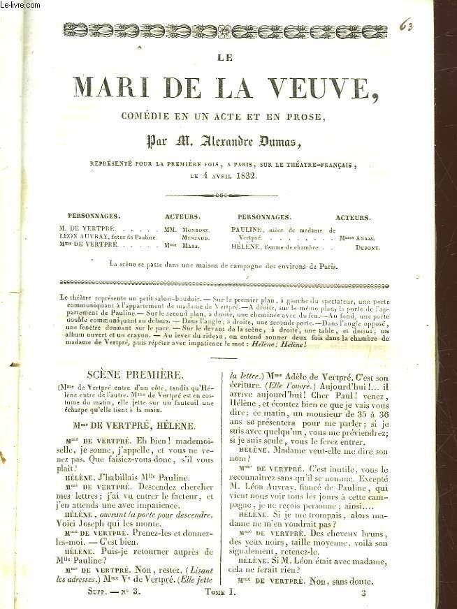 LE MARI DE LA VEUVE - COMEDIE EN UN ACTE ET EN PROSE
