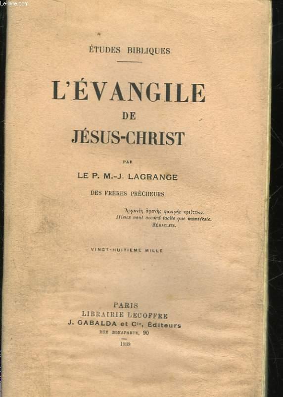 L'EVANGILE DE JESUS-CHRIST
