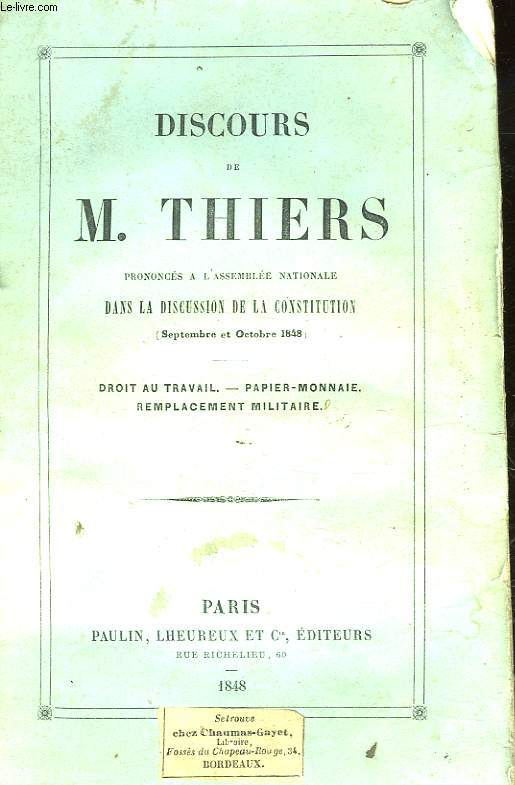 DISCOURS DE M. THIERS