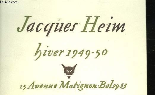 JACQUES HEIM - HIVER 1949-50