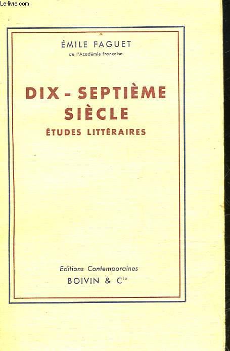 DIX-SEPTIEME SIECLE