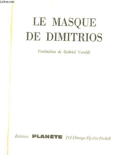 LE MASQUE DE DIMITRIS