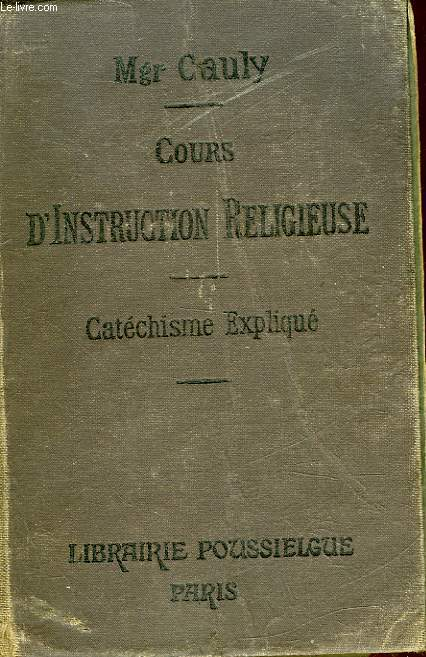COURS D'INSTRUCTION RELIGIEUSE