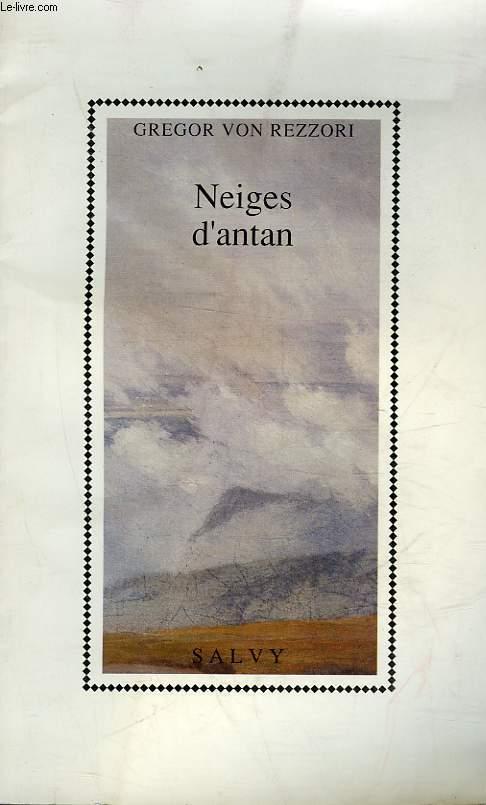 NEIGES D'ANTAN