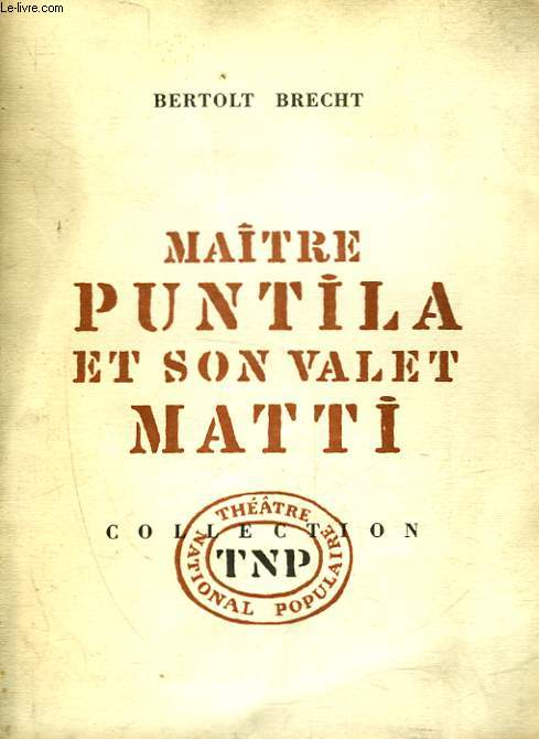 MAITRE PUNTILA ET SON VALET MATTI