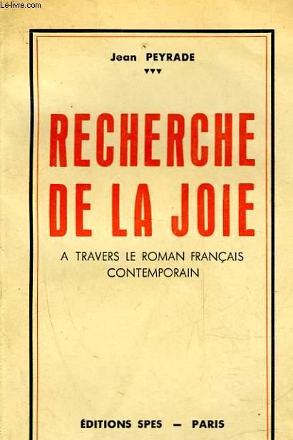 RECHERCHE DE LA JOIE