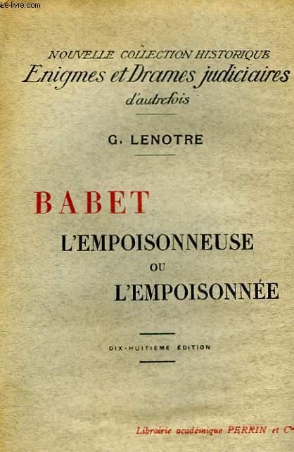 BABET L'EMPOISONNEURE... OU L'EMPOSONNEE