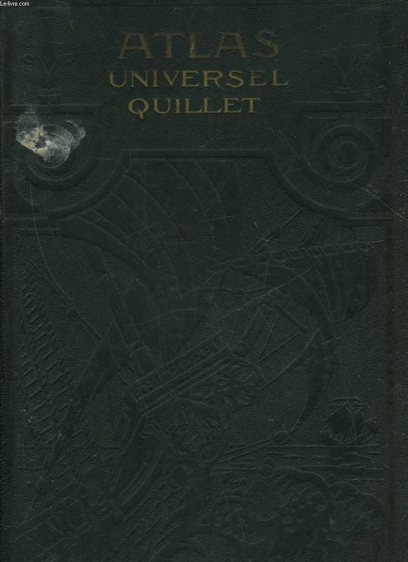 ATLAS UNIVERSEL QUILLET - LE MONDE FRANCAIS (FRANCE ET COLONIES)