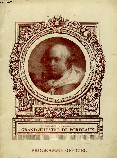 1 PROGRAMME - GRAND THEATRE DE BORDEAUX - LA MAISON MONESTIER