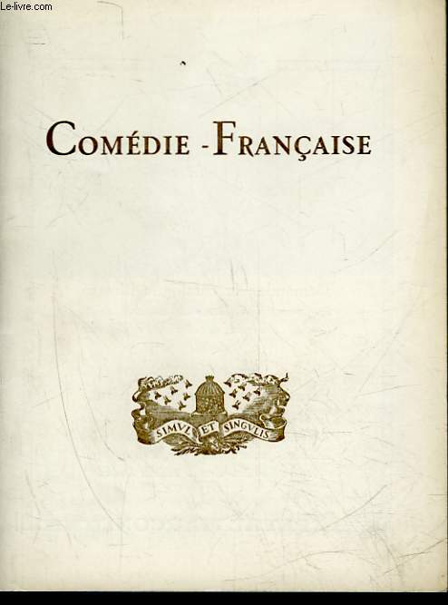 1 PROGRAMME - COMEDIE FRANCAISE - RUY BLAS