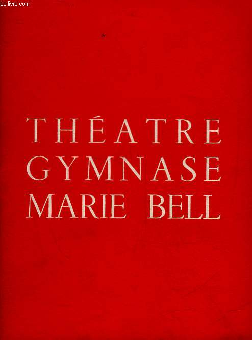 1 PROGRAMME - THEATRE GYMNASE MARIE BELL - LE CANARD A L'ORANGE