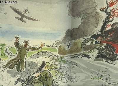 2 DESSINS EN COULEURS -  BOMBARDEMENT