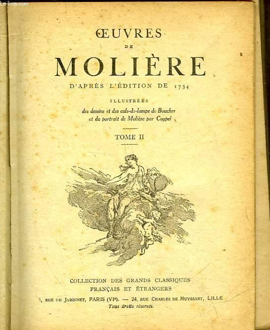 OEUVRES DE MOLIERE D'APRES L'EDITION DE 1734 - TOME 2