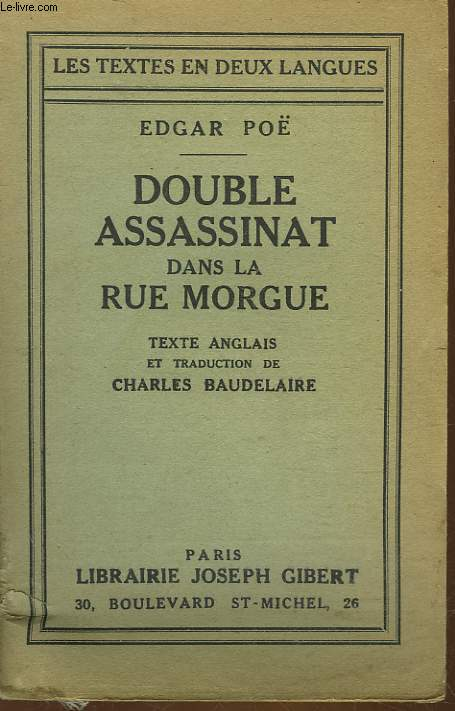 THE MURDERS IN THE RUE MORGUE - DOUBLE ASSASSINAT DANS LA RUE MORGUE