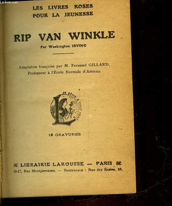 RIP VAN WINKLE - SUIVI DE DIVERS CONTES