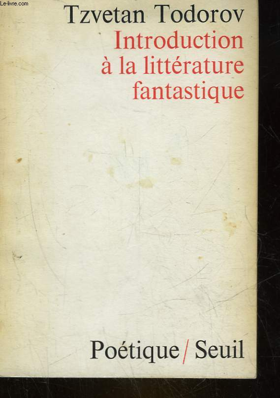 INTRODUCTION A LA LITTERATURE FANTASTIQUE