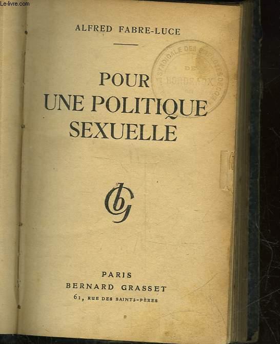 POUR UNE POLITIQUE SEXUELLE