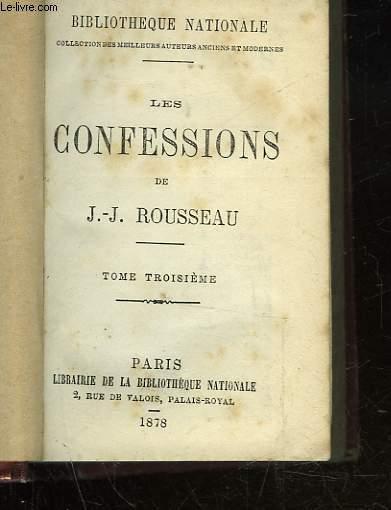 LES CONFESSIONS - TOMES 3 - 4 - 5
