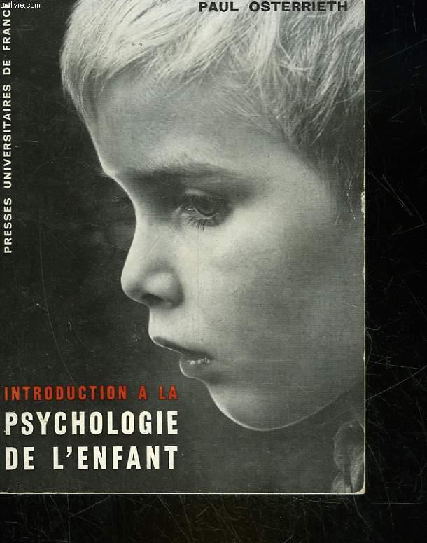 INTRODUCTIONA LA PSYCHOLOGIE D EL'ENFANT