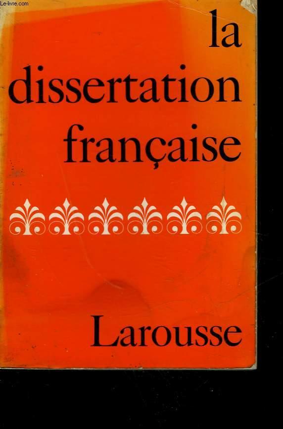LA DISSERTATION FRANCAISE - LE COMMENTAIRE COMPOSE