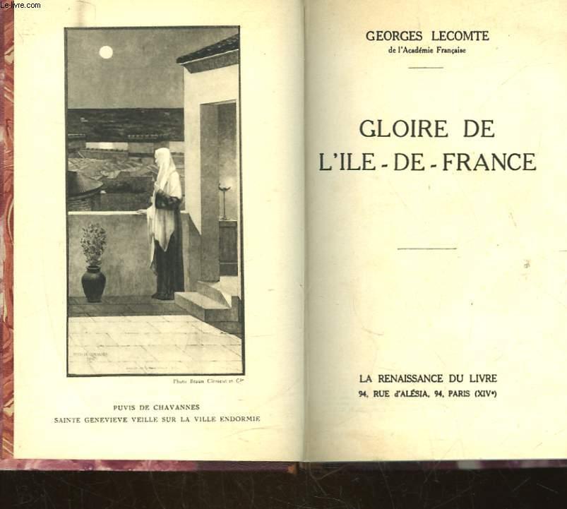 GLOIRE DE L'ILE DE FRANCE