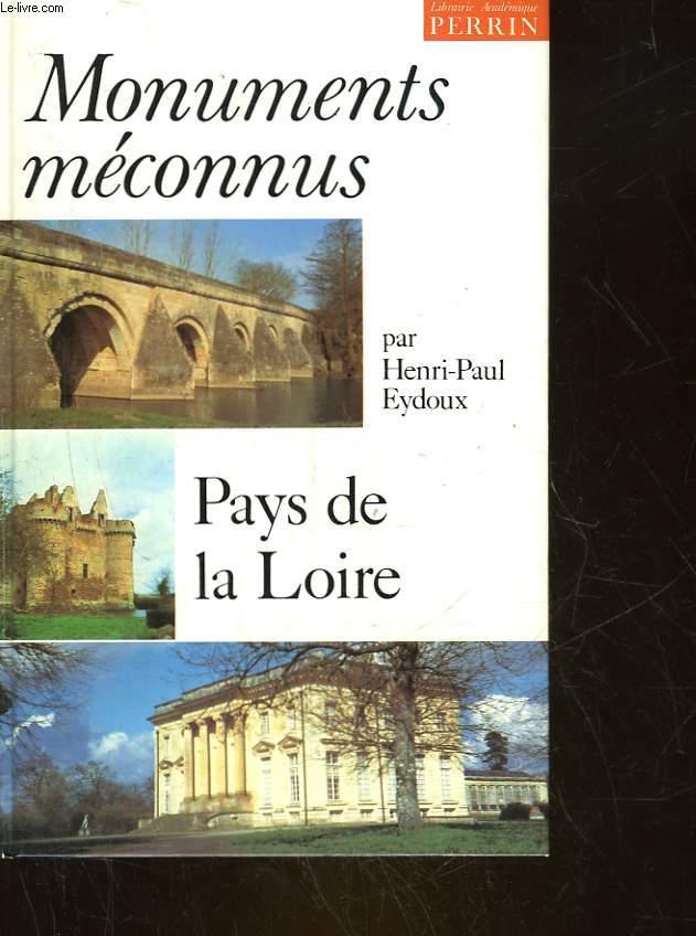 MONUMENTS MECONNUS - PAYS DE LA LOIRE