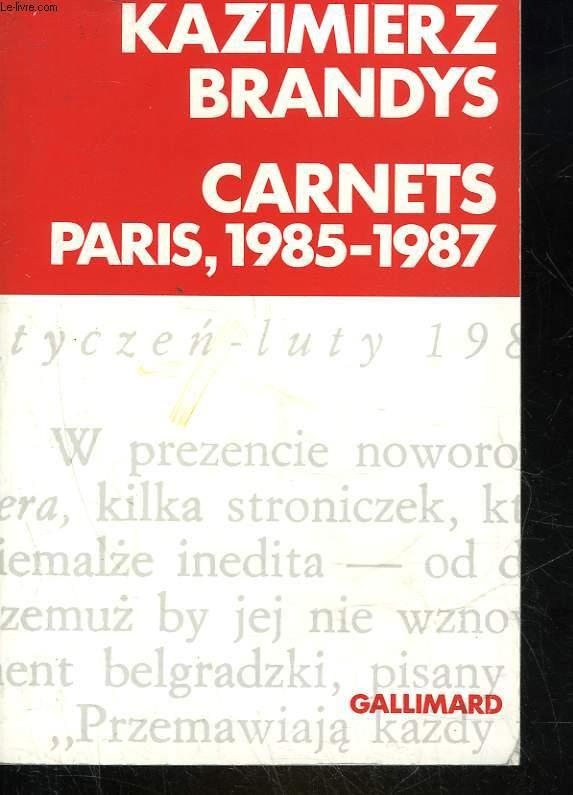 CARNET PARIS 1985 - 1987