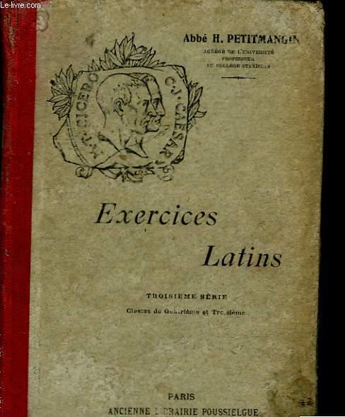 EXERCICES LATINS  - CLASSE DE 4° ET 3°
