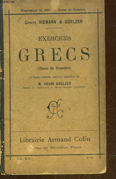 EXERCICES GRECS - CLASSE DE PEMIERE