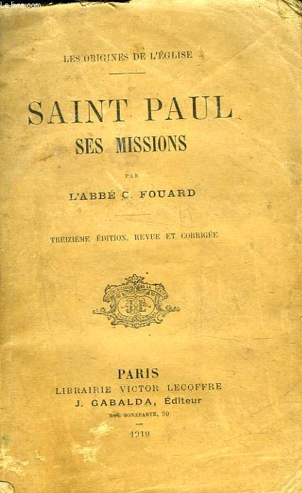 SAINT PAUL SES MISSIONS